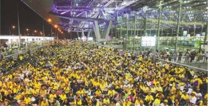 Bandara Internasional Bangkok dikuasai demonstran