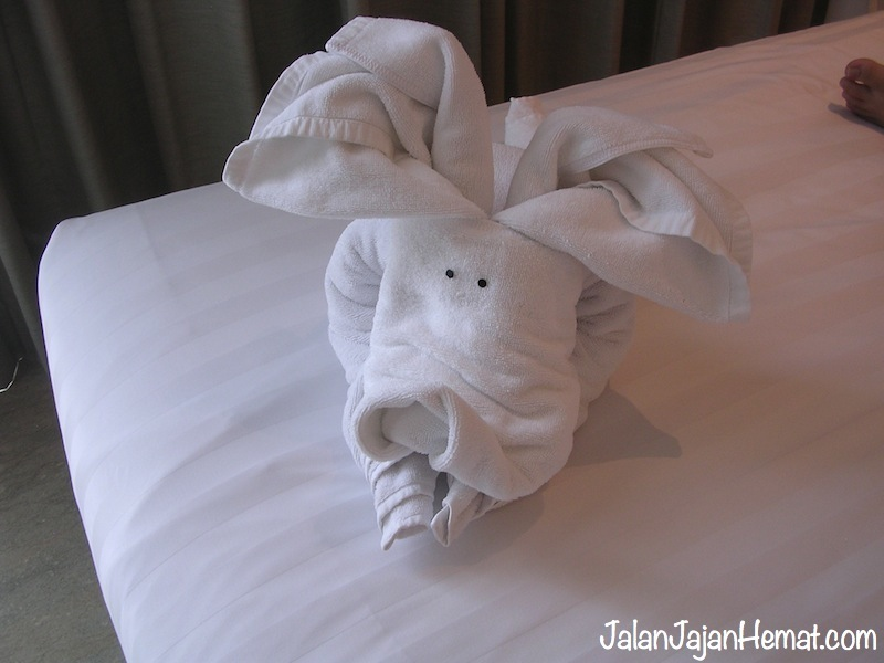 Handuk dibentuk gajah