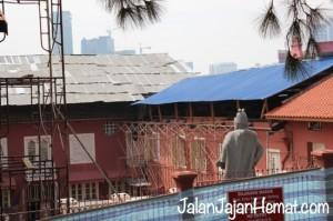 Galeri Cheng Ho saat itu sedang direnovasi