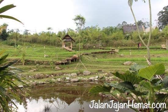 Pemandangan di salah satu sudut Dusun Bambu