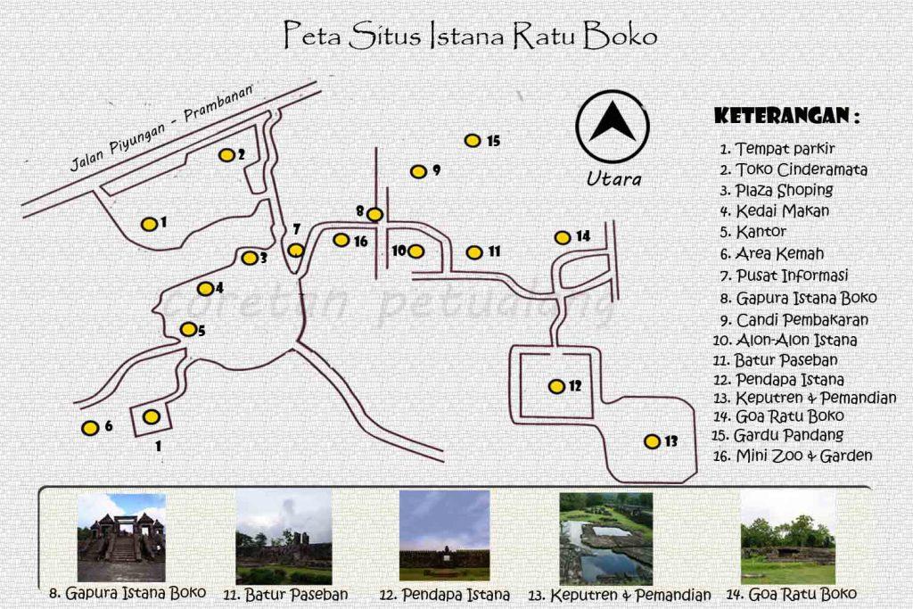 Denah Situs Ratu Boko